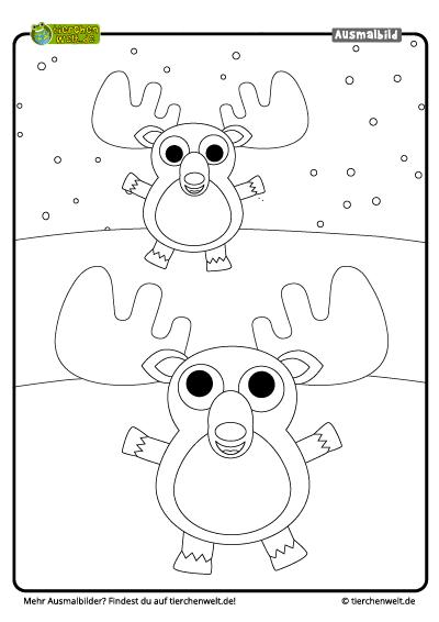 ausmalbild elch | kinder ausmalbilder