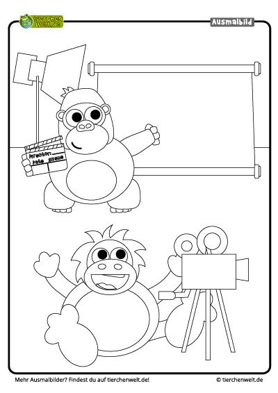malvorlage gorilla
