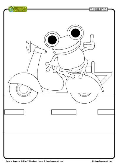 Malvorlage Motorradfrosch
