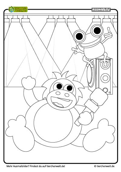 malvorlage musik orangutan