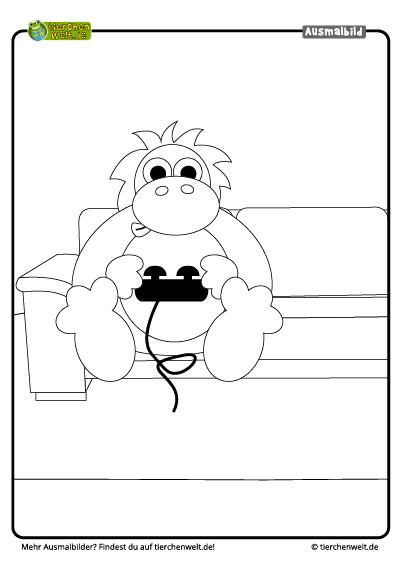 malvorlage orangutan videospiel
