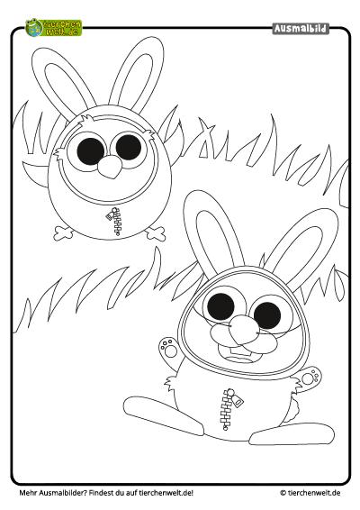 Malvorlage Ostern Küken Hase