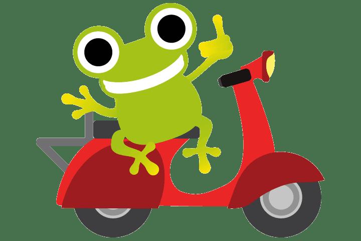 Motorradfrosch